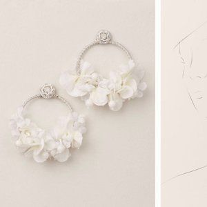 BHLDN Ranjana Khan Floral Hoop Earrings